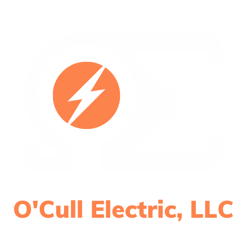 O'Cull Logo - White and Orange - transparent